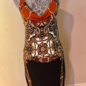 Cache Dresses - Beautiful cache midi dress with Versace print.